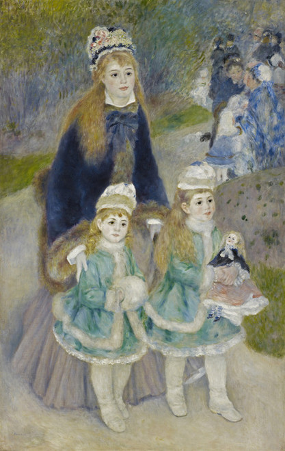 Art Prints of Mother and Children, La Promenade by Pierre-Auguste Renoir