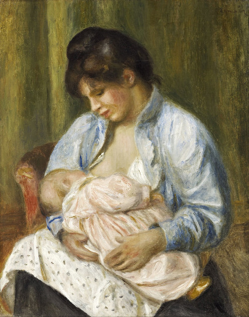 Art Prints of A Woman Nursing a Child by Pierre-Auguste Renoir