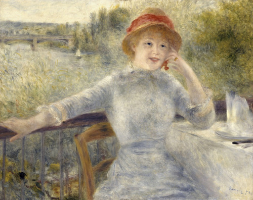 Art Prints of Alphonsine Fournaise by Pierre-Auguste Renoir