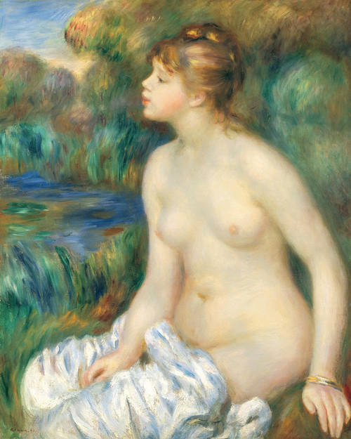 Art Prints of Bather by Pierre-Auguste Renoir