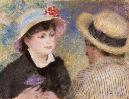Art Prints of Boating Couple by Pierre-Auguste Renoir