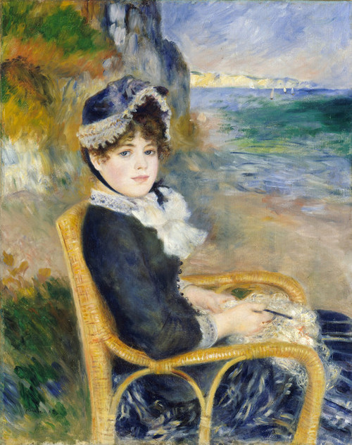 Art Prints of By the Seashore by Pierre-Auguste Renoir