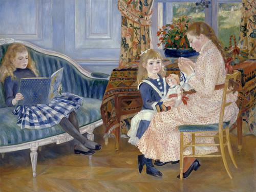 Art Prints of Children's Afternoon at Wargemont by Pierre-Auguste Renoir