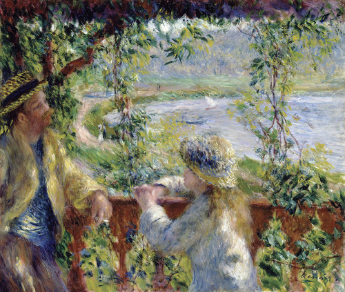 Art Prints of By the Water or Near the Lake by Pierre-Auguste Renoir