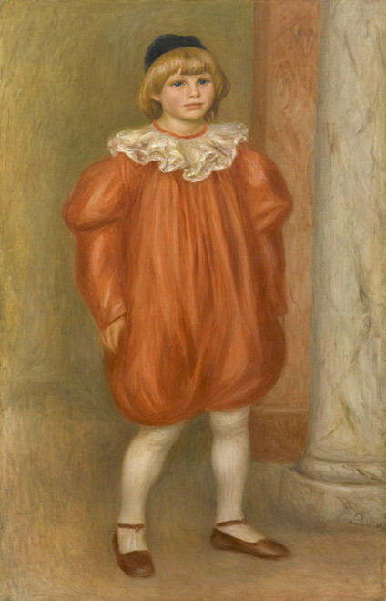 Art Prints of Claude Renoir in Clown Costume by Pierre-Auguste Renoir