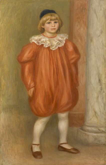 Art Prints of Claude Renoir in Clown Costume by Pierre-Auguste Renoir