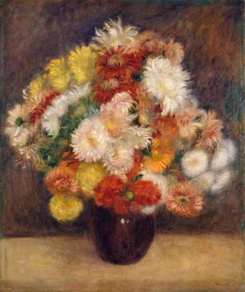 Art Prints of Chrysanthemums by Pierre-Auguste Renoir