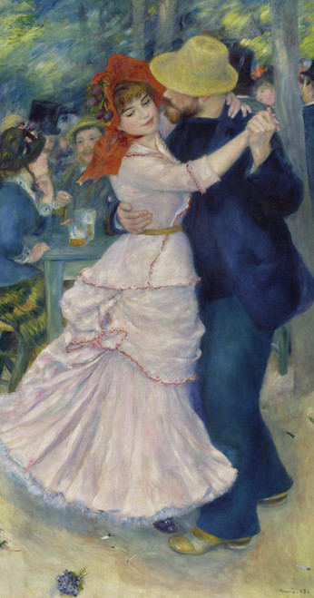 Art Prints of Dance at Bougival by Pierre-Auguste Renoir