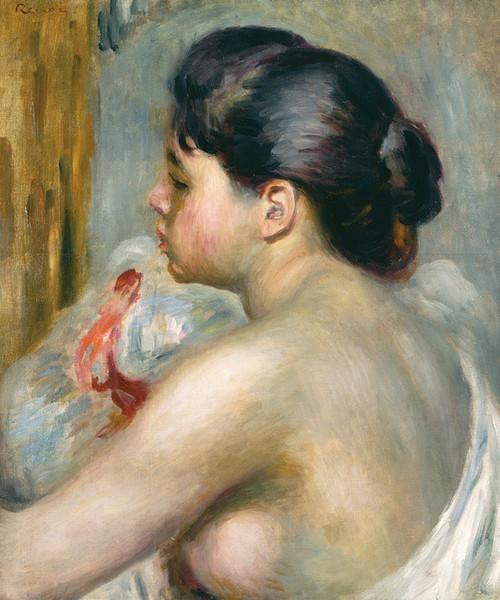 Art Prints of Dark Haired Woman by Pierre-Auguste Renoir