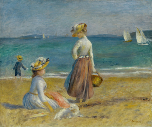 Art Prints of Figures on a Beach by Pierre-Auguste Renoir
