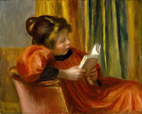 Art Prints of Girl Reading by Pierre-Auguste Renoir