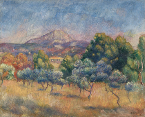 Art Prints of La Montagne Sainte-Victoire by Pierre-Auguste Renoir