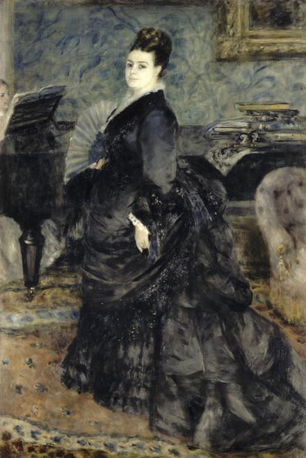 Art Prints of Portrait of a Woman, Madame Georges Hartmann by Pierre-Auguste Renoir