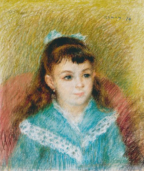 Art Prints of Portrait of a Young Girl, Elisabeth Maitre by Pierre-Auguste Renoir