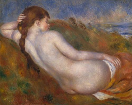 Art Prints of Reclining Nude by Pierre-Auguste Renoir