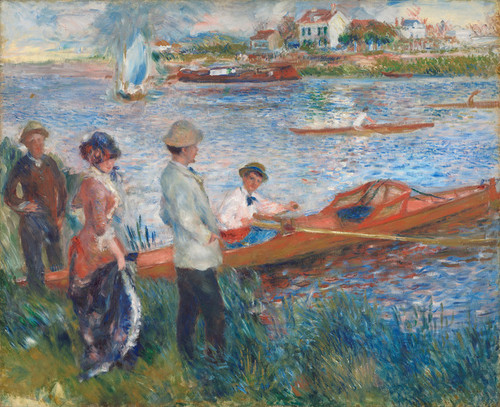 Art Prints of Oarsmen at Chatou by Pierre-Auguste Renoir