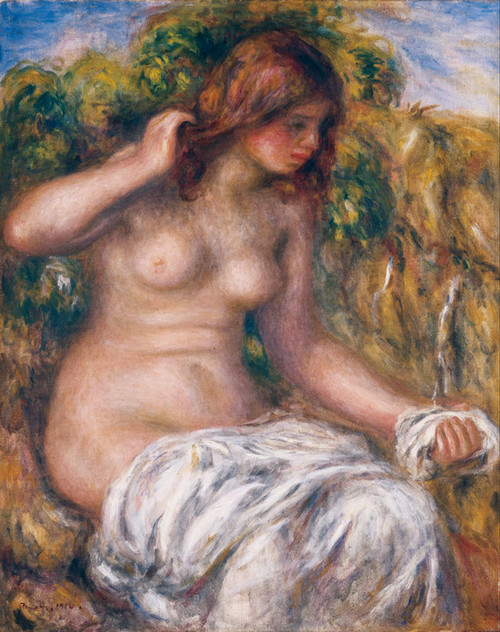 Art Prints of Woman by Spring by Pierre-Auguste Renoir