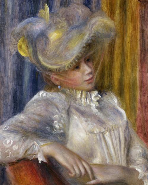 Art Prints of Women with a Hat by Pierre-Auguste Renoir
