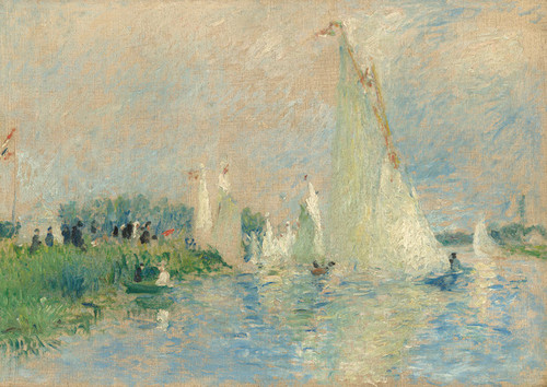 Art Prints of Regatta at Argenteuild by Pierre-Auguste Renoir