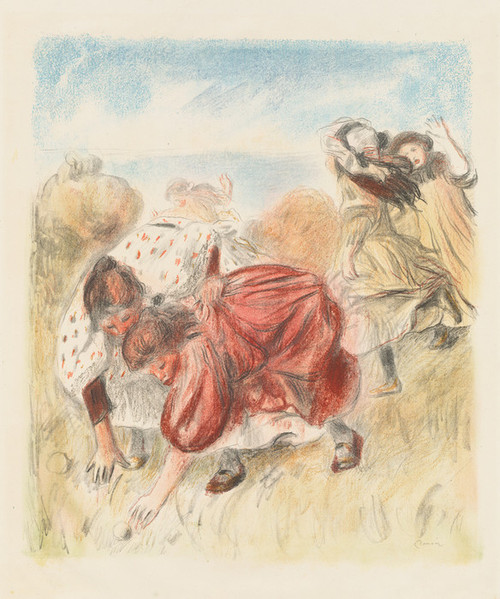 Art Prints of Children Playing Ball by Pierre-Auguste Renoir