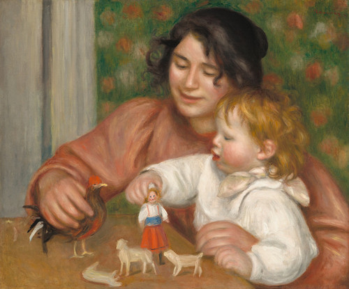 Art Prints of Child with Toys Gabrielle and Jean by Pierre-Auguste Renoir