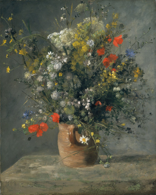 Art Prints of Flowers in a Vase by Pierre-Auguste Renoir