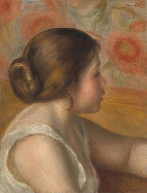 Art Prints of Head of a Young Girl by Pierre-Auguste Renoir