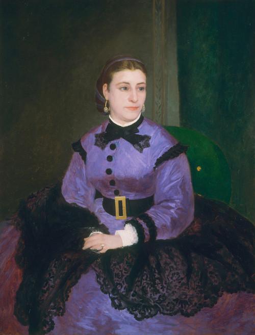 Art Prints of Mademoiselle Sicot, 1865 by Pierre-Auguste Renoir