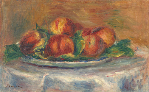 Art Prints of Peaches on a Plate by Pierre-Auguste Renoir