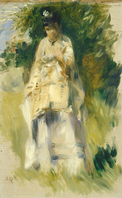 Art Prints of Woman Standing by a Tree by Pierre-Auguste Renoir