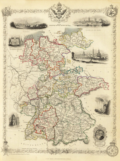 Art Prints of Germany, 1851 (0466020) by R.M. Martin and J. and F. Tallis