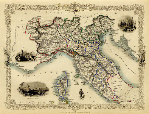 Art Prints of Northern Italy, 1851 (0466022) by R.M. Martin and J. and F. Tallis