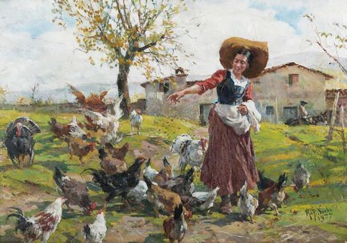 Art Prints of The Young Farmer's Wife by Raffaello Sorbi