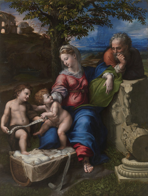 Art Prints of Holy Family Below the Oak by Raphael Santi