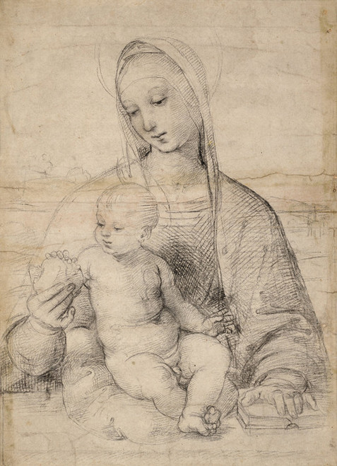 Art Prints of Madonna of the Pomegranate by Raphael Santi