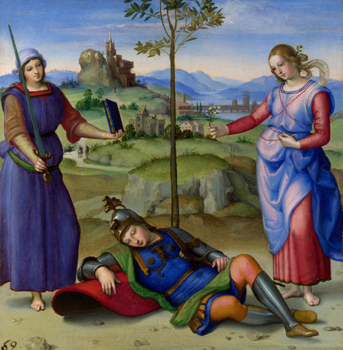 Art Prints of An Allegory Vision of the Knight by Raphael Santi