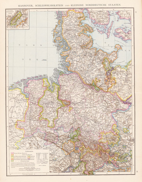 Art Prints of Northern German States (1494026) by Richard Andree