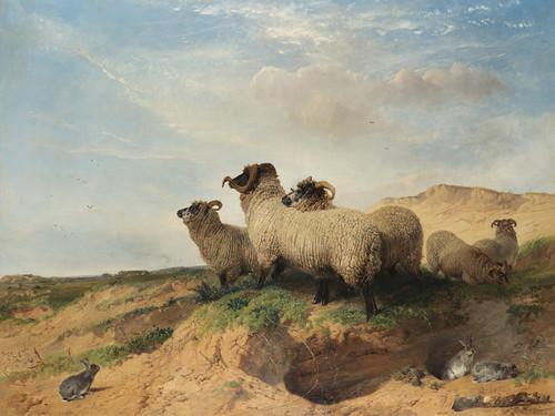 Art Prints of Lytham Sandhills by Richard Ansdell