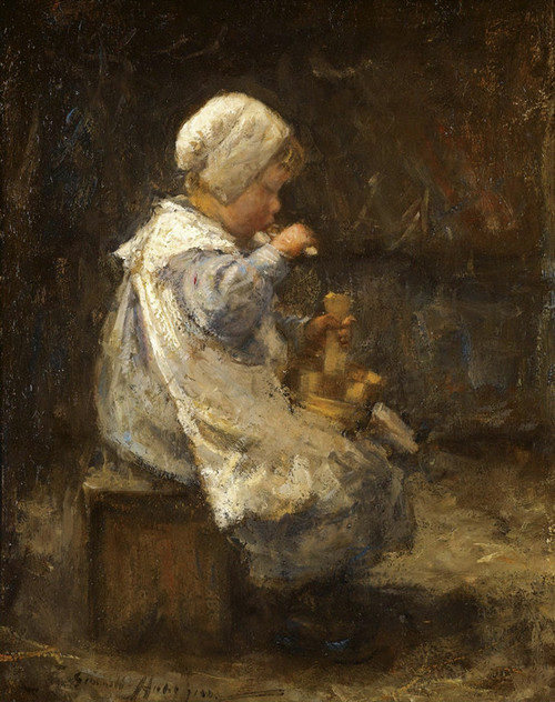 Art Prints of A Bowl of Porridge by Robert Gemmell Hutchison