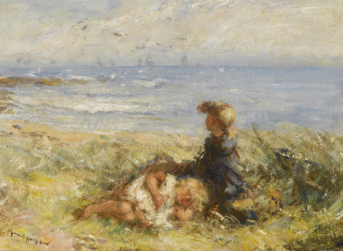 Art Prints of On the Seashore by Robert Gemmell Hutchison