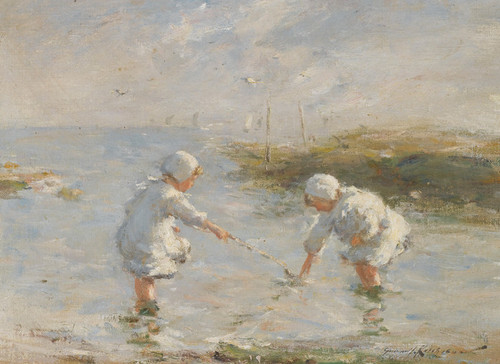 Art Prints of On the Beach, Carnoustie by Robert Gemmell Hutchison