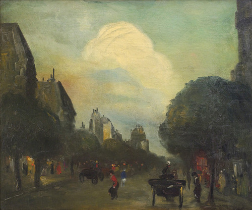 Art Prints of Boulevard Montparnasse or The Cloud by Robert Henri