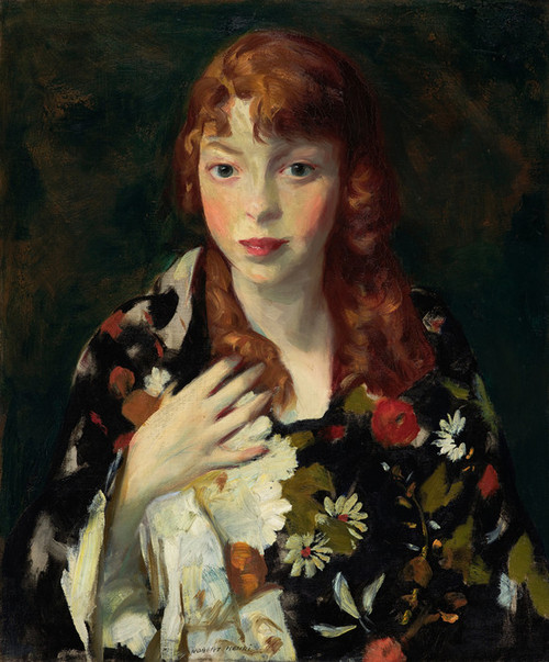 Art Prints of Edna Smith in a Japanese Wrap by Robert Henri