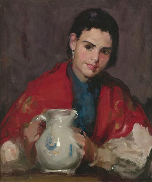 Art Prints of Segovia Girl Holding a Pitcher by Robert Henri