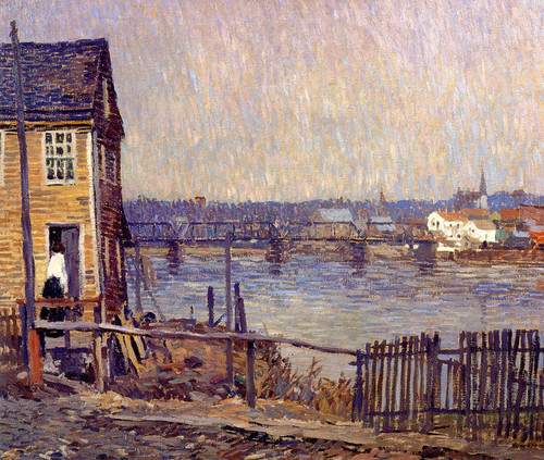 Art Prints of A Fisherman's House by Robert Spencer
