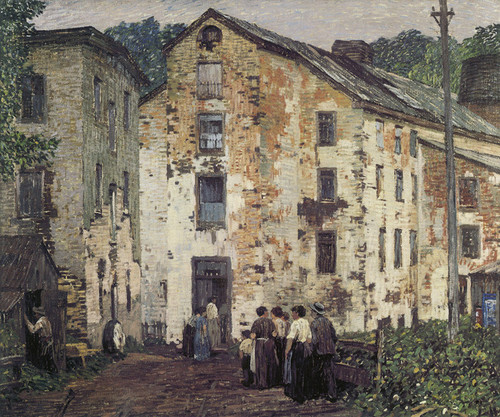 Art Prints of Grey Mills by Robert Spencer