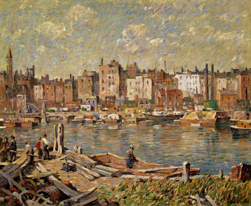 Art Prints of Harlem River by Robert Spencer