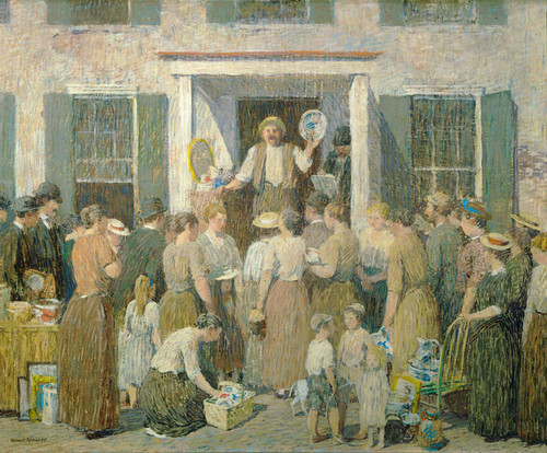 Art Prints of The Auction by Robert Spencer