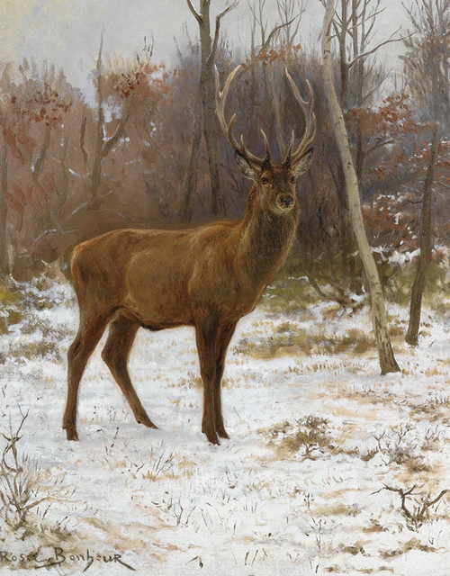 Art Prints of A Stag with Ten Tynes on the Watch by Rosa Bonheur