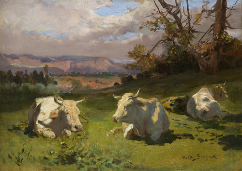 Art Prints of Cows Resting by Rosa Bonheur